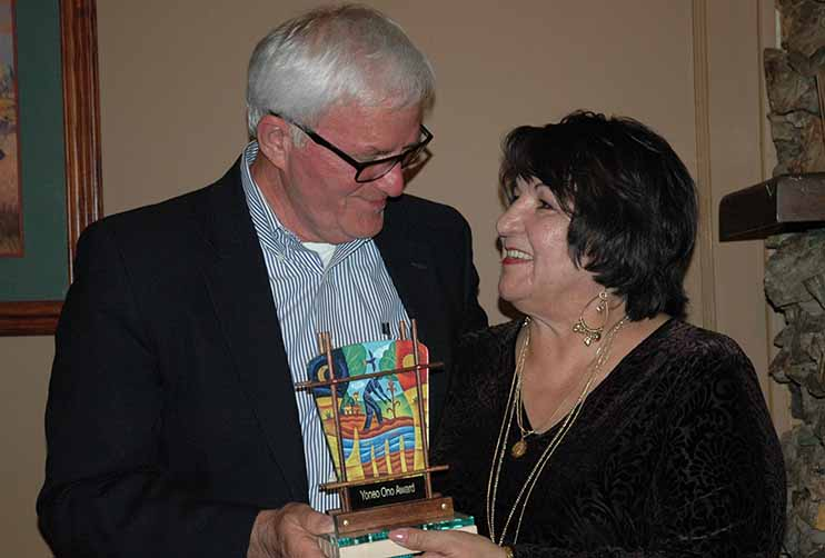 Stan Keasling and Anita LaRan (YO awardee)