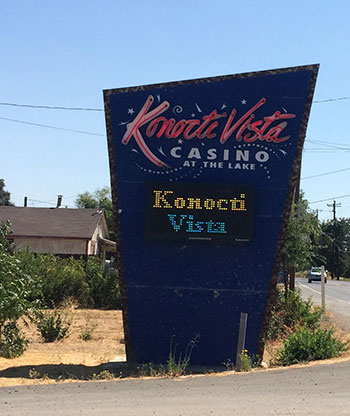 Konocti Vista Casino sign