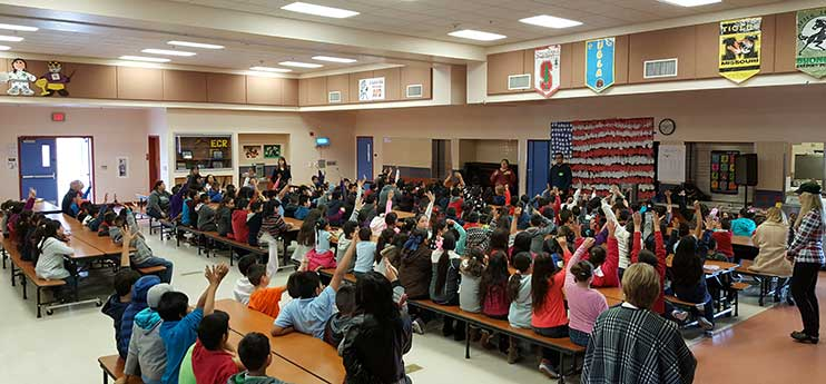 El Camino Real school assembly photo