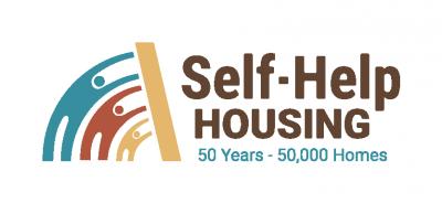 National Self-Help Housing 50 years, 50,000 homes logo