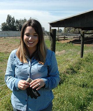 Anjelika Locke at her farm in California.
