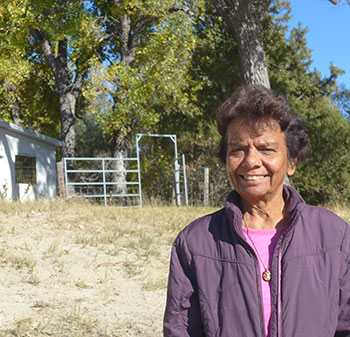 Bernie Barlow at her ranch.
