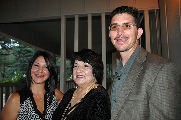 Anita's son, John Olivas, and his wife Pam and Anita at the ceremony.