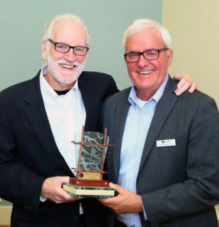 John Mealey and Stan Keasling with the William French Award.