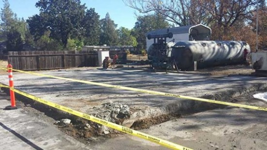 Callayomi County Water District office after crews cleaned up.