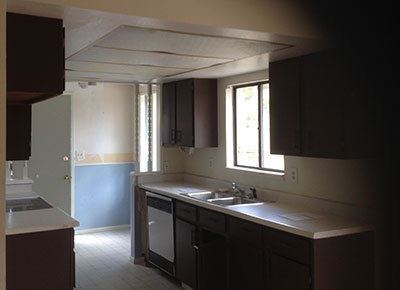 Kitchen before remodel.