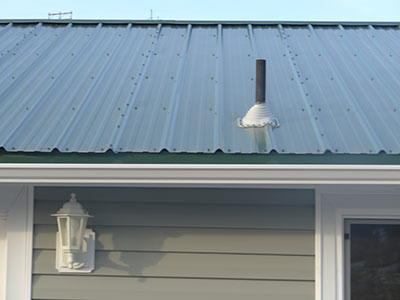 New metal roof.