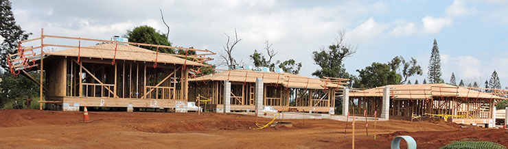 Kunia new construction underway.