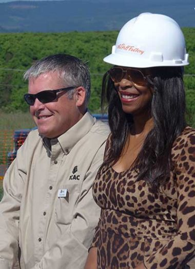 Chuck Miller and Jacqueline at the ground breaking.