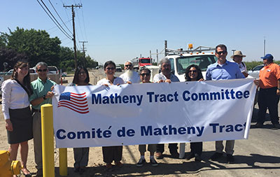 Matheny Tract Committee sign.