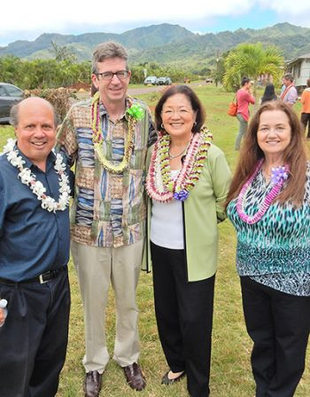 Photo of RCAC staff and US Sen. Mazie K. Hirono