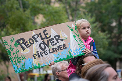 Pipeline protests photo