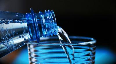 water bottle drinking glass