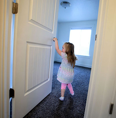 Magnolia Law leads a tour of her new home.