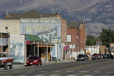 Small town facade in Nevada.