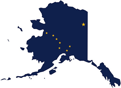 state of alaska with stars