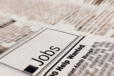 job announcement in newspaper