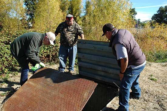 Lee Schegg, Steven Johnson and John Cruz at Big Valley Rancheria.