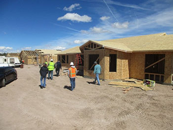 Framing three houses in Box Canyon.