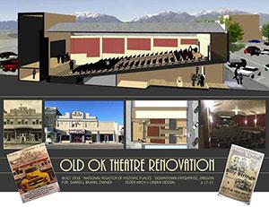OK Theatre restoration mock up