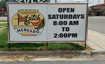 Hatch Artisans and Farmers Mercado signage