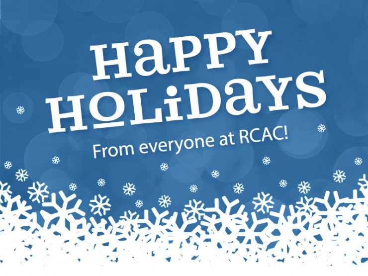 Happy Holidays from everyone at RCAC