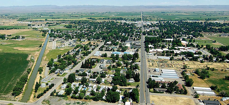Gooding, ID aerial