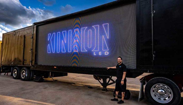 Kinnon LED screen and Michael Blecha