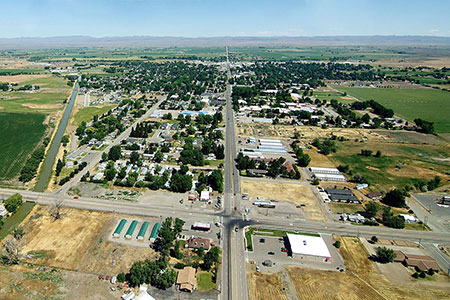 Aerial view of Gooding, ID